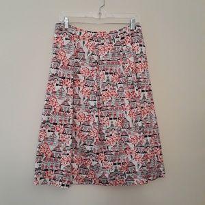 Boden Lola Skirt in Pink Botanical Print